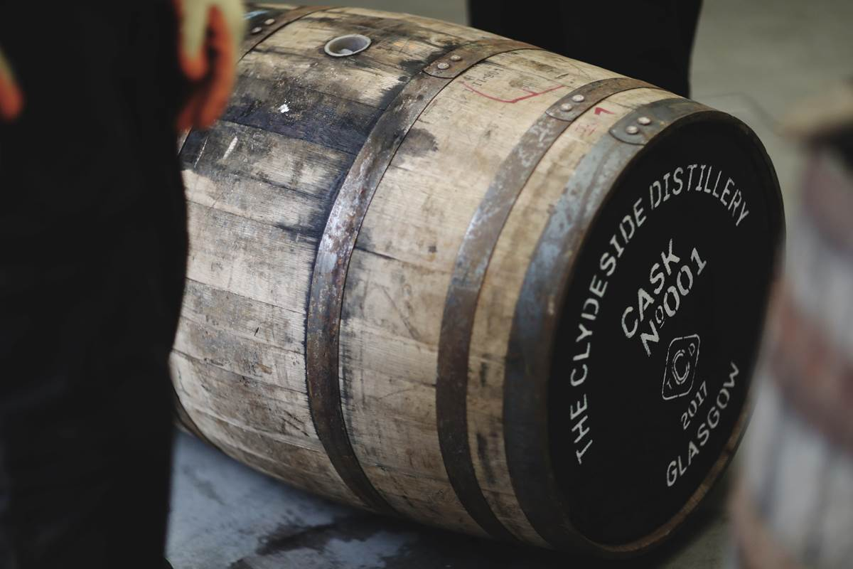 The first cask of Clydeside Single Malt Whisky