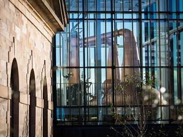 Close up external image of the Still House at The Clydeside Distillery