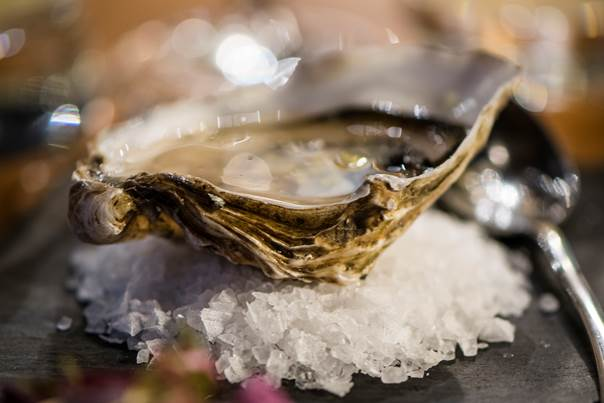 Scottish Loch Fyne Oysters on Slate for Private dining experience