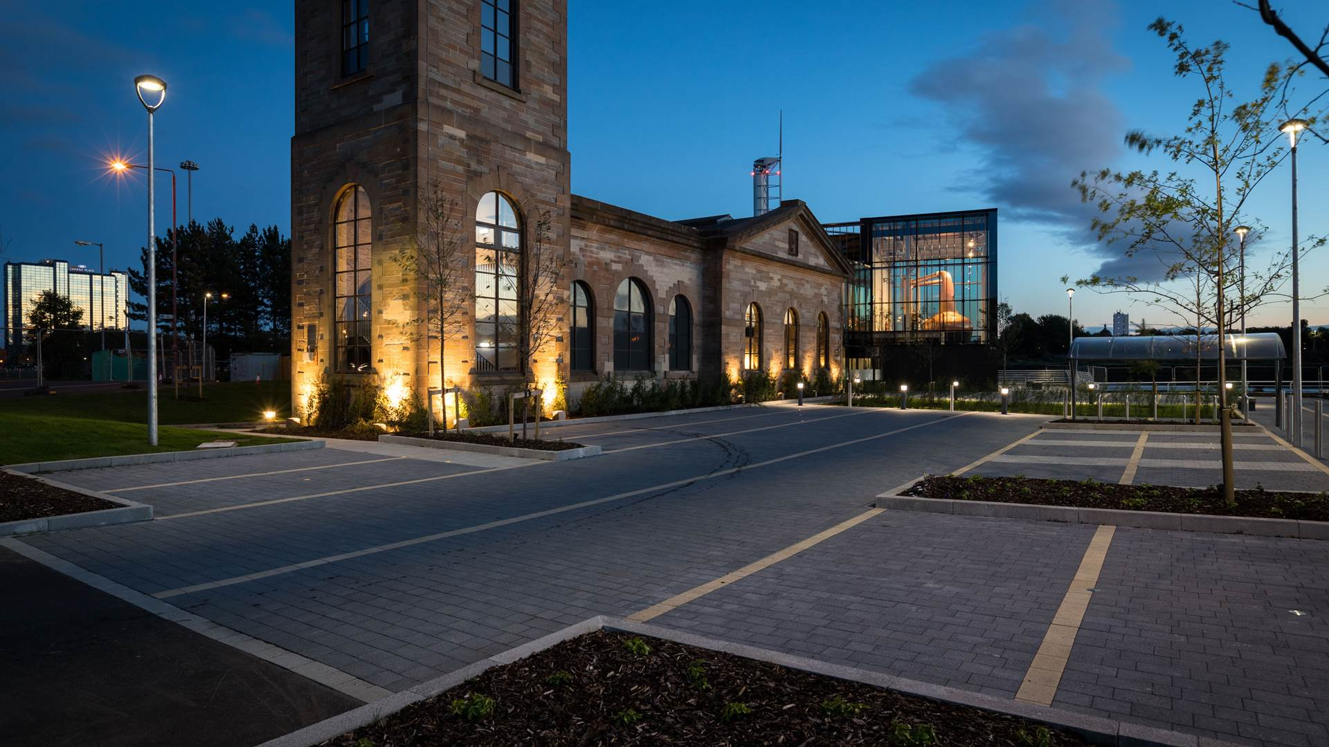 Car park space available at The Clydeside Distillery